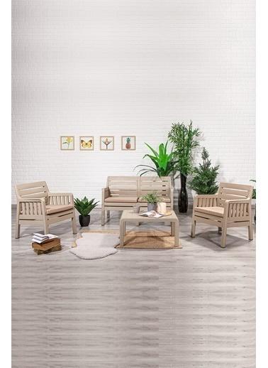 Sandalie Lara 2+1+1+S Balkon&Teras&Bahçe Mobilyası / Cappucino Kahve
